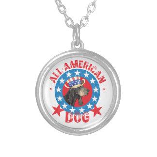 Collar Plateado Coonhound negro y del moreno patriótico
