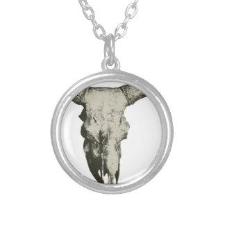 Collar Plateado Cráneo del bisonte