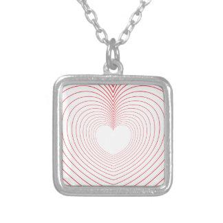 Collar Plateado ♥♥ de las vibraciones del amor del ♥♥