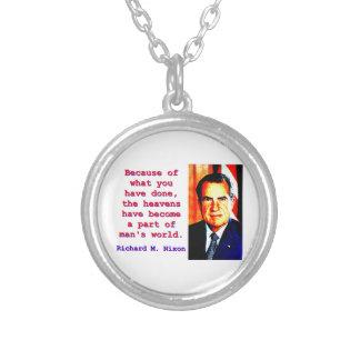 Collar Plateado Debido a lo que usted ha hecho - Richard Nixon