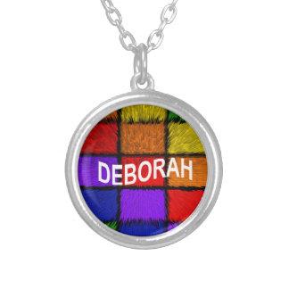 COLLAR PLATEADO DEBORAH