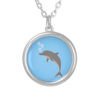 Collar Plateado Delfín