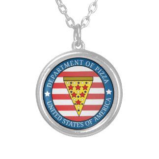 Collar Plateado Departamento de pizza