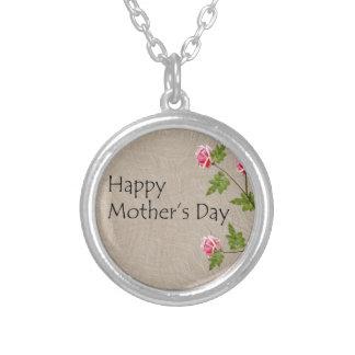 Collar Plateado Día de madres feliz