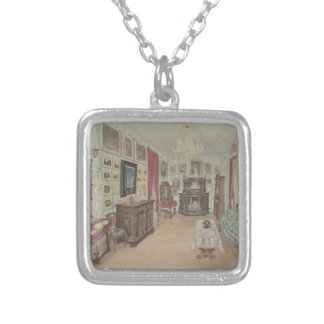 Collar Plateado Dibujo de un Interior- Cabinet du Salon