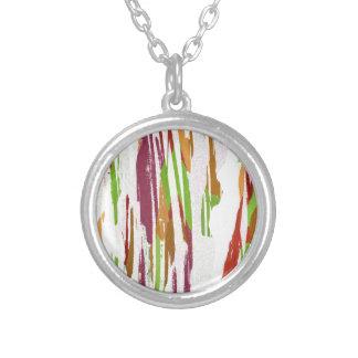 Collar Plateado Diseño abstracto del chapoteo del arco iris