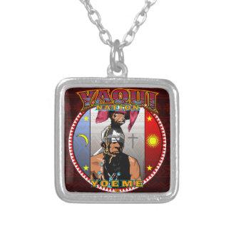Collar Plateado Diseño del bailarín de los ciervos de Yaqui Yoeme
