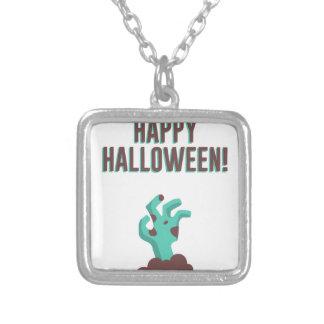 Collar Plateado Diseño muerto del cadáver del zombi del feliz
