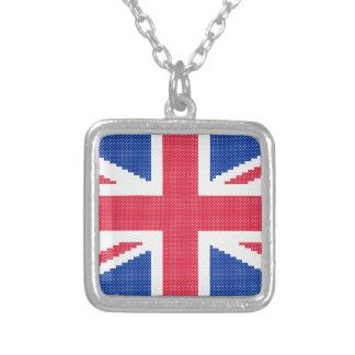 Collar Plateado Diseño original Union Jack del punto de cruz