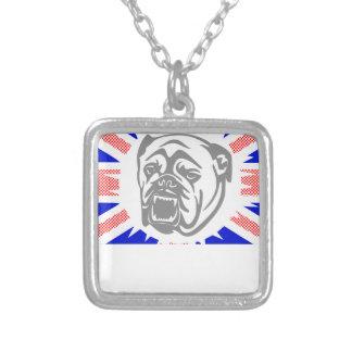 Collar Plateado Dogo británico
