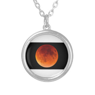 Collar Plateado Eclipse de la luna de la sangre