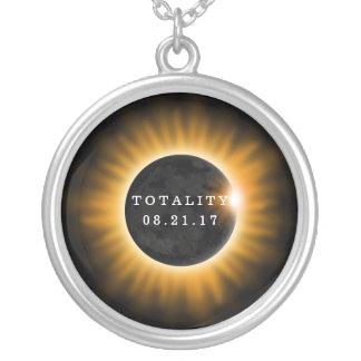 Collar Plateado Eclipse solar 2017 de la totalidad