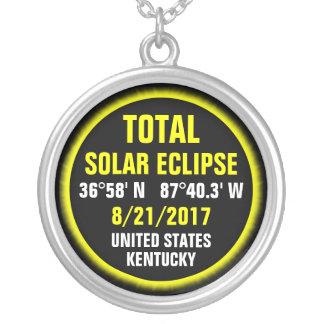 Collar Plateado Eclipse solar total 8/21/2017