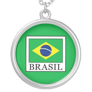 Collar Plateado El Brasil