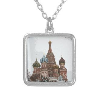 Collar Plateado El cathedral_eng de la albahaca del santo