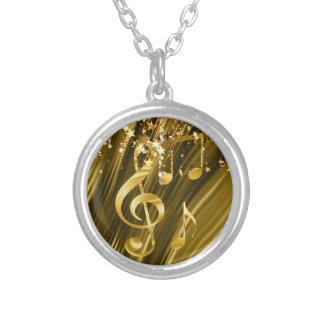 Collar Plateado Elegante dominante del violín