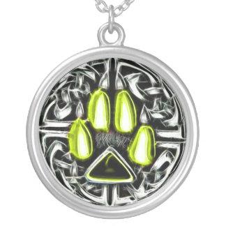 Collar Plateado Elemento del amuleto de la protección del hombre