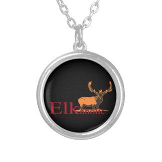 Collar Plateado Elkaholic 2
