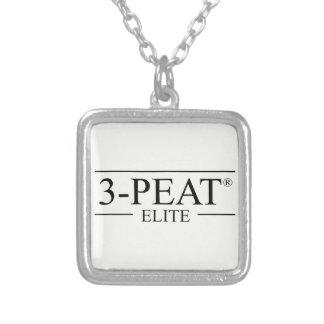 Collar Plateado encanto de la élite 3-Peat