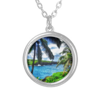 Collar Plateado Escena del Hawaiian IMG_1122 4