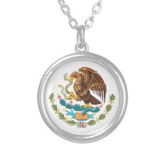Collar Plateado Escudo de armas de México