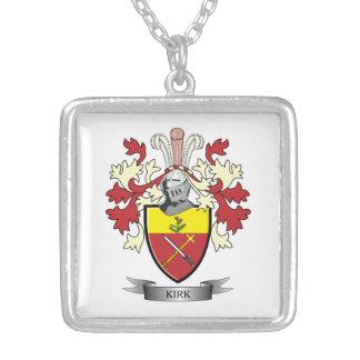 Collar Plateado Escudo de armas del escudo de la familia de Kirk