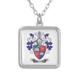 Collar Plateado Escudo de armas del escudo de la familia de McLeod