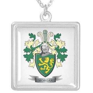 Collar Plateado Escudo de armas del escudo de la familia de Morgan