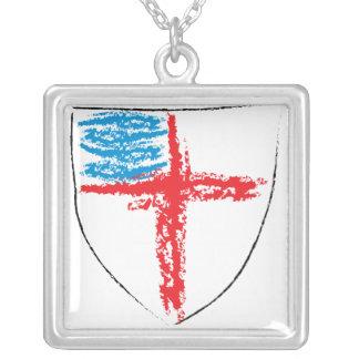 Collar Plateado Escudo episcopal