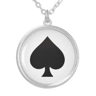 Collar Plateado Espada - juego del icono de las tarjetas