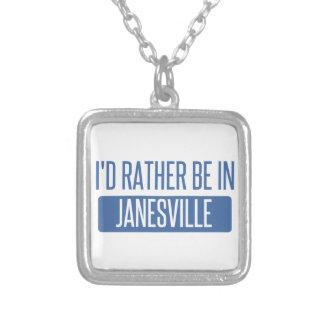 Collar Plateado Estaría bastante en Janesville