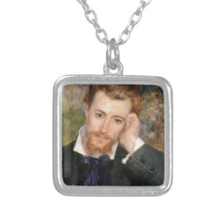 Collar Plateado Eugène Murer - aceite en lona