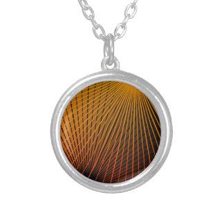 Collar Plateado Extracto geométrico