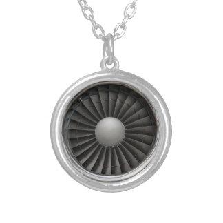 Collar Plateado Fan de la turbina del motor a reacción
