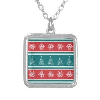 Collar Plateado Felices Navidad