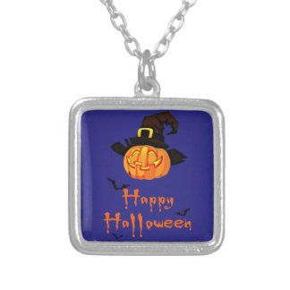 Collar Plateado feliz Halloween