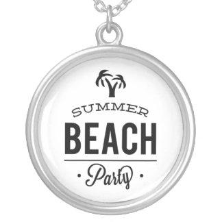 Collar Plateado Fiesta de la playa del verano