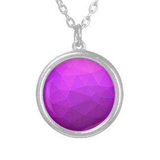 Collar Plateado Fondo bajo abstracto púrpura bizantino del