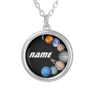 Collar Plateado Fotos del montaje JPL de la Sistema Solar - nombre