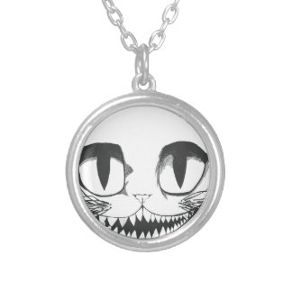 Collar Plateado Gato de Cheshire