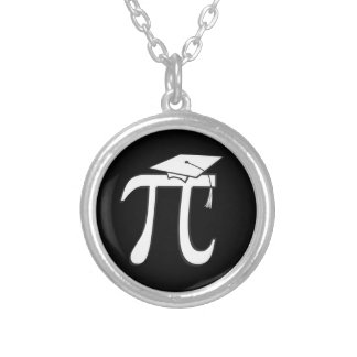 Collar Plateado Graduado de la matemáticas pi