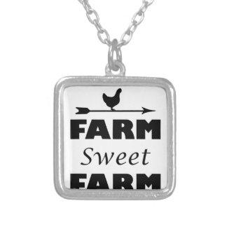 Collar Plateado granja del dulce de la granja