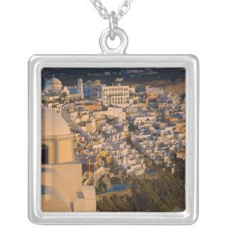 Collar Plateado Grecia e isla griega de la ciudad de Santorini de