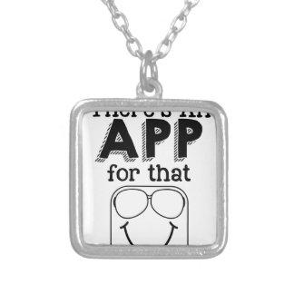 Collar Plateado Hay un app para eso