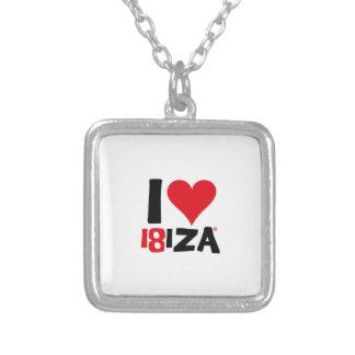 Collar Plateado I love Ibiza 18IZA Edición Especial 2018