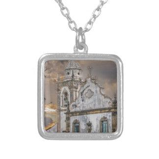 Collar Plateado Iglesia colonial Olinda de la antigüedad exterior