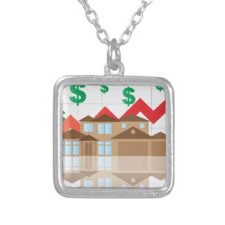 Collar Plateado Ilustracion de levantamiento del gráfico del valor