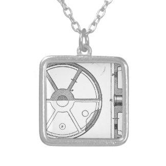 Collar Plateado Impresión mecánica industrial de las Ephemeras de