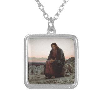 Collar Plateado Ivan Kramskoy- Cristo en el desierto - bella arte