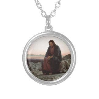 Collar Plateado Ivan Kramskoy- Cristo en la bella arte del